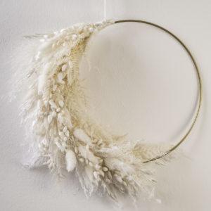 bleached flower hoop