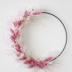 rosa floral hoop