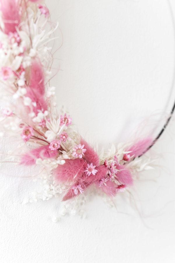 flower hoop rosa