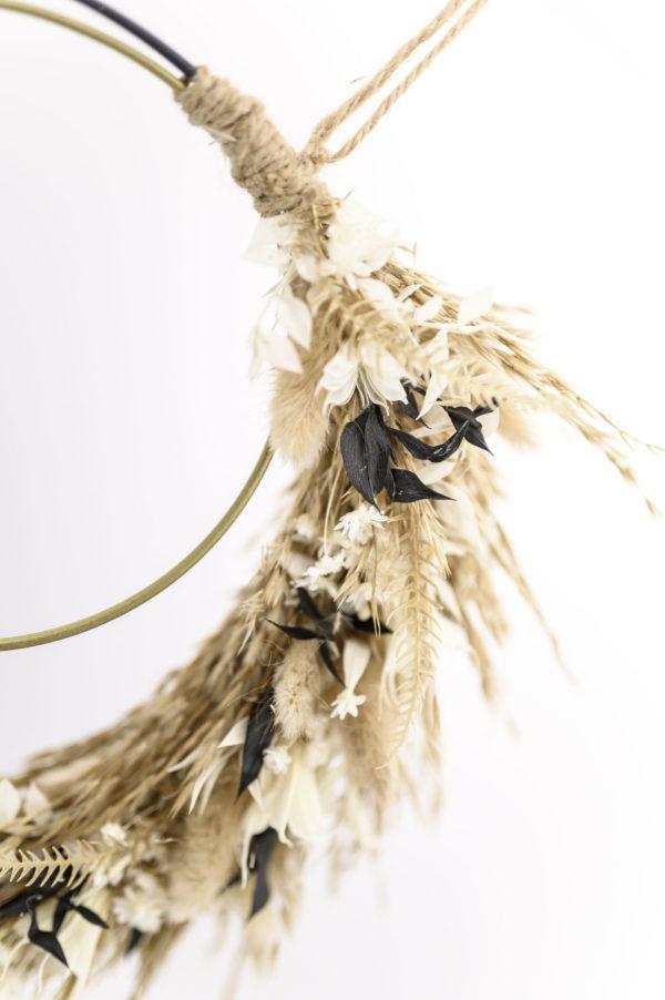 dried floral hoop