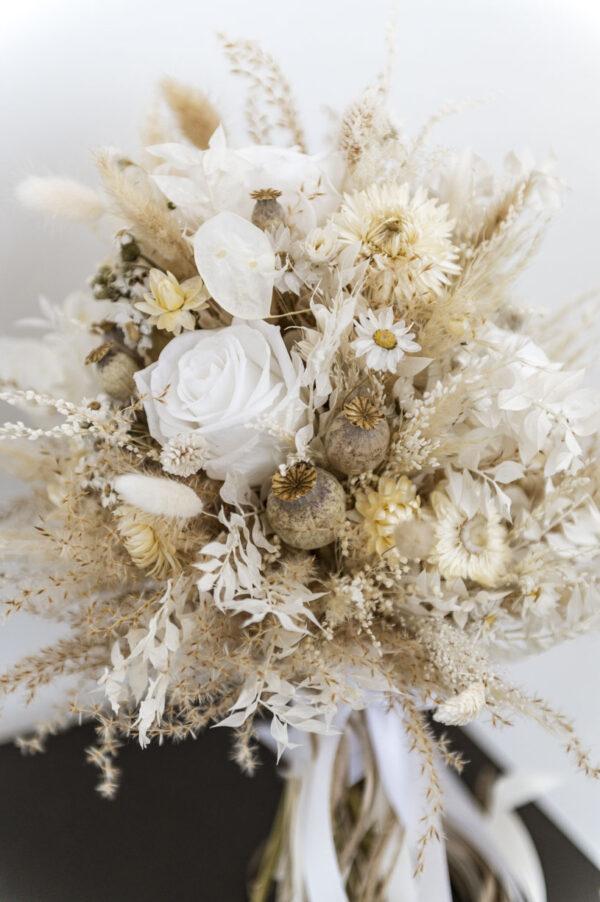 brautstrauss trockenblumen