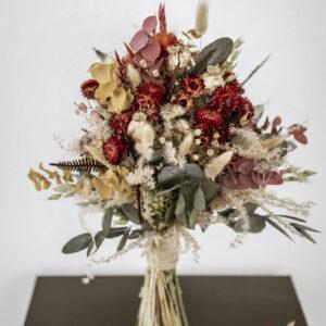 brautstrauß aus trockenblumen