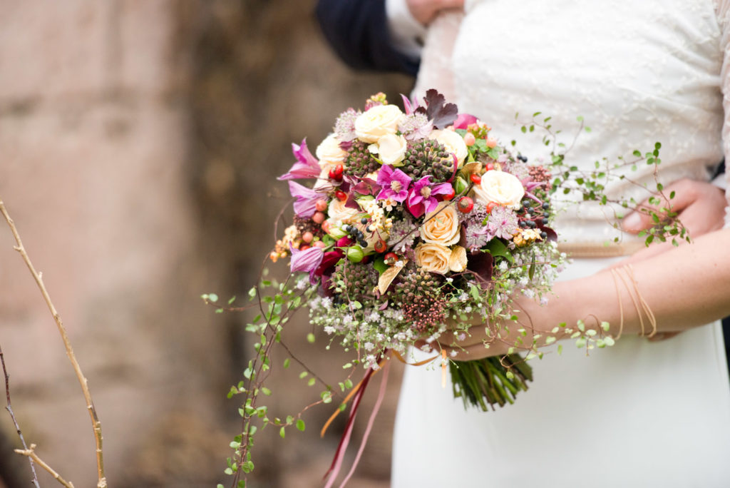 Blumen Heller Brautstrauss