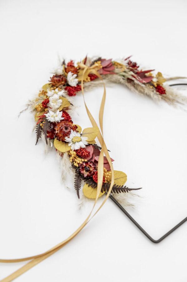 flower heart aus trockenblumen