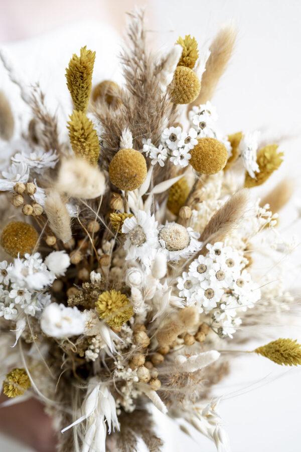 Trockenblumen Brautstrauß